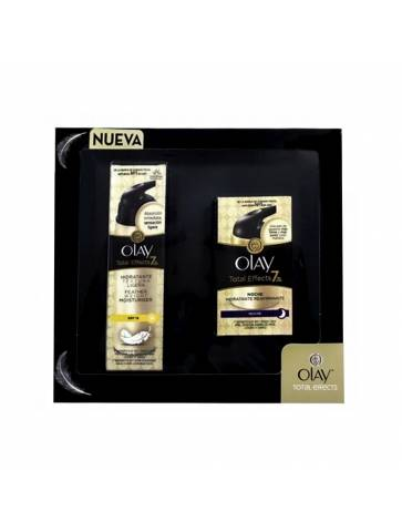 Olay Total Effects Crema Día y Noche Textura Ligera SPF 15 pack